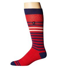 Richer Poorer Knock Out Performance Reflective Red Men's Crew Cut Socks Shoes