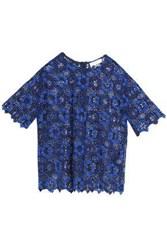 Sandro Guipure Lace Top Royal Blue