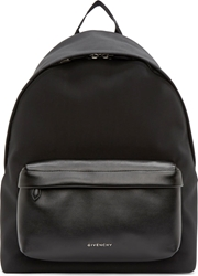 Givenchy Black Neoprene And Leather Backpack