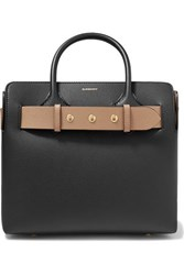 Burberry Small Belted Textured Leather Tote Black