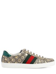 Gucci New Ace Gg Supreme Fabric Sneakers Beige