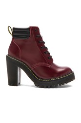 Dr. Martens Persephone 6 Eye Padded Collar Boot Red