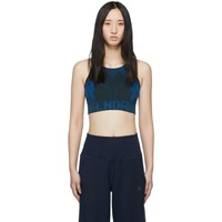 Lndr Blue And Khaki All Seasons Sports Bra