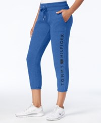 Tommy Hilfiger Fleece Logo Sweatpants Only At Macy's Electric Blue