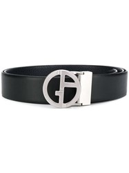 Giorgio Armani Black And Silver Belt