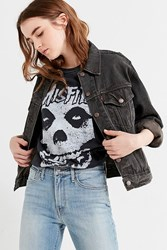 Urban Outfitters Misfits Oversized Distressed Tee Washed Black