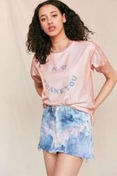 Urban Renewal Riverside Tool And Dye X Vintage Hand Dyed Denim Mini Skirt Assorted