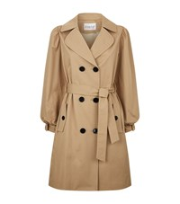 Claudie Pierlot Bow Cuff Trench Coat Nude