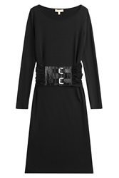 Michael Kors Dress With Leather Belt Black