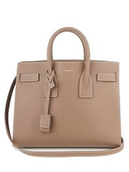 Saint Laurent Sac De Jour Small Grained Leather Tote Beige