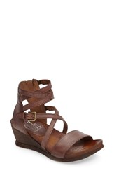 Miz Mooz Women's 'Shay' Wedge Sandal Mauve Leather