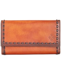 Patricia Nash Burned Edge Terresa Wallet Tan