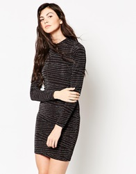 Minimum Long Sleeve High Neck Bodycon Dress 010Birch