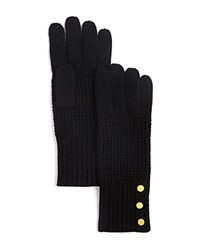 Michael Kors Waffle Stitch Gloves 100 Bloomingdale's Exclusive Black