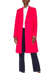 Paul Smith Ps Epsom Wool Blend Coat Pink