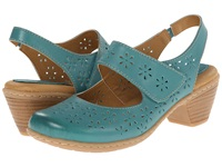 Softspots Safia Turquoise M Vege Women's Slip On Dress Shoes Blue