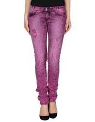Killah Denim Pants Fuchsia