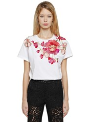 Ainea Hand Embroidered Cotton Jersey T Shirt