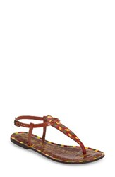 Sam Edelman Women's 'Gigi' Sandal Saddle Chevron Print Leather