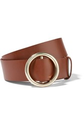 Frame Circle Leather Belt Brown