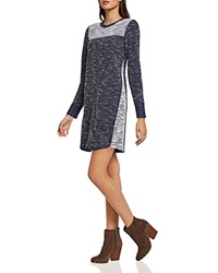 Bcbgeneration Color Block Sweater Dress Dark Navy Combo