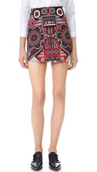Holly Fulton Print Miniskirt Red Pinball