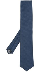 Hugo Boss Dotted Woven Tie Blue