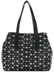 Jimmy Choo Sofia Star Studded Tote Calf Leather Metal Black