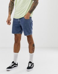Cheap Monday Slim Fit Denim Shorts In Blue