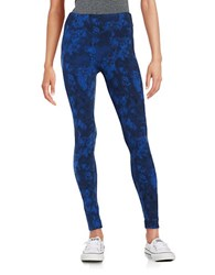 Kensie Abstract Athletic Pants Navy Combo