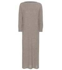 Isabel Marant Cara Wool And Cotton Blend Sweater Dress Grey