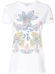 Red Valentino Floral Print T Shirt White