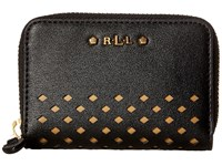 Lauren Ralph Lauren Lauderdale Zip Card Case Black Credit Card Wallet