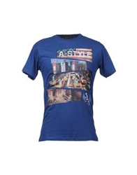 A Style Short Sleeve T Shirts Blue