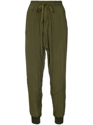 Haider Ackermann Loose Fit Track Pants Green