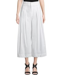 Kendall Kylie Cropped Wide Leg Pants White
