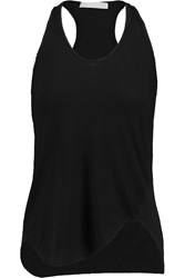 Kain Label Rowena Cotton Jersey And Crinkled Cotton Tank Black