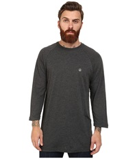 Volcom Heather 3 4 Raglan Heather Black Men's Long Sleeve Pullover