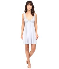 Only Hearts Club Venice Tank Chemise With Lace Cups Silver Women's Pajama