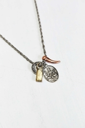 Urban Outfitters Mixed Charm Necklace Silver