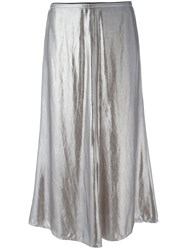 Golden Goose Deluxe Brand Slip Skirt Women Cupro M Metallic