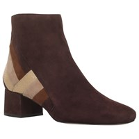 Michael Michael Kors Rosamund Low Block Heel Ankle Boots Maroon Suede