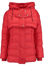 Just Cavalli Quilted Shell Jacket Red