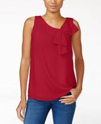 Maison Jules Bow Detail Top Only At Macy's Banner Red