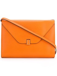 Valextra 'Isis' Ipad Should Bag Women Calf Leather One Size Yellow Orange