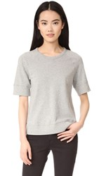 James Perse Raglan Sweatshirt Heather Grey