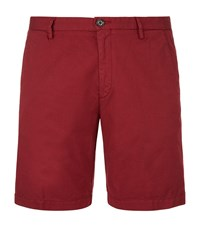 Boss Rice Gabardine Slim Fit Shorts Male Red