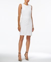 Armani Exchange Sleeveless Bodycon Dress White