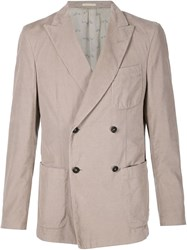 Massimo Alba 'Enfield' Microcord Blazer Nude And Neutrals