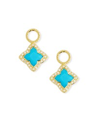 Jude Frances 18K Gold Moroccan Turquoise Flower Earring Charms